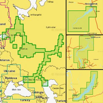 Карта Navionics 52XG Европейская часть России